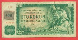 B391 / 100 TOLARJEV - 100 KORUN Czechoslovakia 1961 -  Slovenia Slowenien  - Banknotes Banknoten Billets Banconote - Slovénie