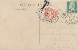 Frankreich - 1925 , AK Nach Belgien Mit Belgischem Nachporto - Portomarken