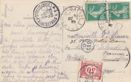 LA BRESSE - 1923 , AK Nach Belgien Mit Belgischem Nachporto - Portomarken
