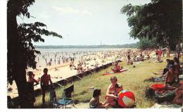 Plattsburgh Municipal Beach, Plattsburgh, New York  On Beautiful Lake Champlain - Adirondack