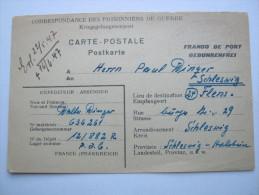 1947, Prisonnier De Guerre, Depot 12/882, Carte  A Allemagne  Avec Censuree - Marcofilie (Brieven)