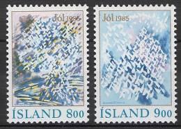 ISLANDE 1985 - Noël 1985 - 2v Neuf ** (MNH) - Islande