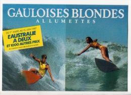 """SURF -- SURF -- JEUX """" GAULOISES BLONDES """" ALLUMETTES - Réf. N° 4451 - - Cartes Postales"""