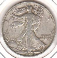 ESTADOS UNIDOS 1942.LIBERTY WALKING.CECA ·D· (DENVER) 1/2 DOLLAR.PLATA EBC   .CN1186 - EDICIONES FEDERALES