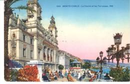 POSTAL   MONTECARLO-  MONACO - CASINO Y TERRAZAS - Monte-Carlo
