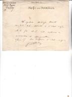 126 E DIVISION -ETAT - MAJOR -NOTE DE SERVICE -LAISSER PASSER CYCLISTE -4 FEVRIER 1917 - Decrees & Laws