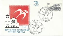 TRIESTE-CENTENARIO ISTITUZIONE UFFICIO POSTALE- 18-9-1971 - Poste