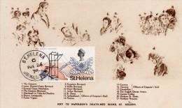 Paquebot France Escales De Sainte Helene Napoleon Sur Son Lit De Mort Tour Du Monde 1974 - Ascension (Ile)