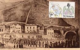 Paquebot France Sainte Hélène Escale Napoléon 1974 Funeraille  A Jamestown 1840 - Ascensione