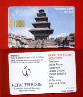 """NEPAL: NEP-05  """"Nyatapole Temple, Bhaktapur"""" 300 Rs. Rare (50.000ex). - Nepal"""