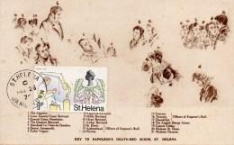 Paquebot France Tour Du Monde 1974 Escale De Sainte Hellene Napoleon Sur Son Lit De Mort - Saint Helena Island