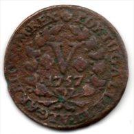 Portugal - V Reis (D.JOSE I ) 1757, Cobre -F - Portugal