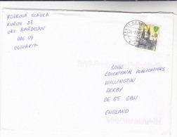 Bardejov SLOVAKIA COVER Zilina Stamps - Slovakia