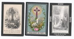 Doodsprentje  Lot 3 Stuks 1877 / 1880/1885 Van Der Sande +antwerpen Zeer Mooie Staat °postel - Religion & Esotericism