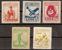 Locales Lugo Galvez B531/B535 (*) Pro Combatientes - Vignette Della Guerra Civile