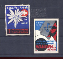 Suisse, Switzerland, Schweiz, 1936, Werbevignetten, Cinderella - Suisse