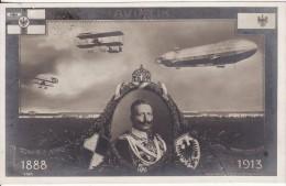 S.M KAISER WILHELM II -1888-1913 Zum 25 Jährigen Regierungs-Jubiläum -Avion-Dirigeable-Aviation-Royauté-Deutschland - Dirigeables