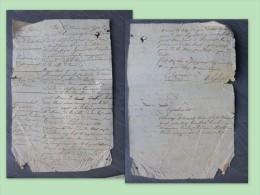 YSSINGEAUX TENCE 1826 RARE Rapport GENDARMERIE Cordonnier Parrot, Eyrand, Delabatie ; Ref 678 - Historical Documents