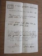 RARE 1828 Lettera Di Vettura + Fiscale F. Serra Negoziante In Cuneo Italie Italia >G. Bresso - Brés > Nizza Nice F - Italia