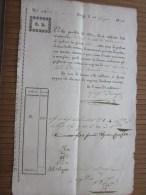 RARE 1828 Lettera Di Vettura + Fiscale G.D. Negoziante In Torino Italie Italia >G. Bresso - Brés > Nizza Nice Fran - Italia