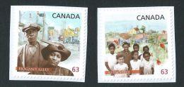 CANADA, 2014, # 2702-3, BLACK HISTORY: HOGAN´ALLEY, VANCOUVER & AFRICVILLE NOVA SCOTIA,  CHILDREN, COUPLE BUILDINGS - Carnets