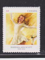 CANADA, 2014,#2705,  PIONEERS Of WINTER SPORTS: Barbara  Ann  SCOTT(1948) - Carnets
