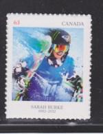 CANADA, 2014,   2707   PIONEERS Of WINTER SPORTS:SARAH BURKE (2014) - Carnets