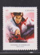 CANADA, 2014, 2706   PIONEERS Of WINTER SPORTS: Sandra  SCHMIRLER (1998) - Timbres Seuls