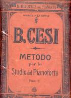 """ITALIA. SCHEDA PER PIANOFORTE: """"B. CESI: MÉTODO PER LO STUDIO DEL PIANOFORTE FAC. II"""". RELIC! ANTIQUE!GECKO. - Scores & Partitions"""