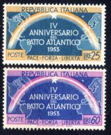 Patto Atlantico - 1953 - Serie Di Due Valori (Sassone 723-724) MNH** - 6. 1946-.. Repubblica