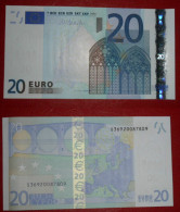 ITALIA ITALY 20 EURO 2002 DRAGHI SERIE S 36920087809 J033C1 UNC FDS 3/3 CONSECUTIVE - 20 Euro