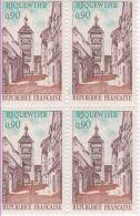 1971  - Riquewihr    -  Bloc De 4 Timbres N° 1685 - France
