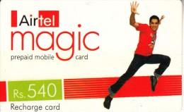 INDIA - Boy, Airtel Magic Recharge Card Rs.540, Used - India