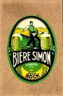 ETIQUETTE - NORD - LEWARDE - BIERE SIMON - PETIT BOCK - 106 X 78 Mm - Bière