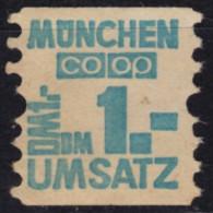 Konsum Umsatz Marke - Trading Stamp - Voucher Coupon - COOP München - Label Germany - [7] République Fédérale