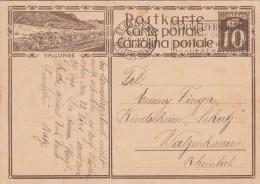 1929, CARTE SUISSE, ENTIER VALLORBE, St GALLEN Pour WALZENKIRSEN /3302 - Stamped Stationery