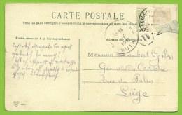 83 Kaart Verstuurd Met Correspondentie Onder De Postzegels / Message Secret Sous Le Timbre / Fraude Postale :texte Sous - 1893-1907 Armoiries