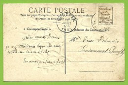 Kaart Verstuurd Met Correspondentie Onder De Postzegels / Message Secret Sous Le Timbre / Fraude Postale :texte Sous - Non Classés