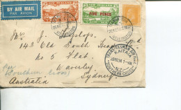 (338) New Zealand Airmail Cover To Australia - 1934 - Travelled On Flight On Southern Cross - VERY SCARCE ITEMS - 1907-1947 Dominion