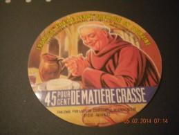 étiquette De Fromage  Neuve : Frère Jean  Touraine Laiterie Coop Reignac  37 Moine Religion - Fromage