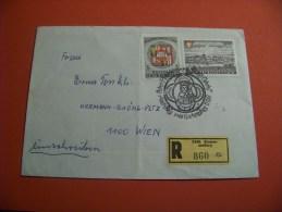 Österreich   1966 Mi. 1230 + 1967 Mi. 1241  Einschreiben    / Stempel 1967     ( 15 ) - Enteros Postales