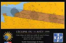 75 PARIS  Rue Beethoven Societe Astronomique De France  Eclipse Du 11 Aout 1999 - Cafés, Hôtels, Restaurants