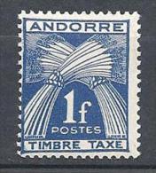 ANDORRE TAXE N� 33 NEUF** TTB