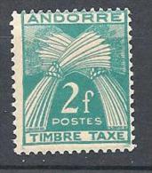 ANDORRE TAXE N� 34 NEUF** TB