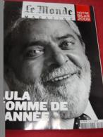Magazine Du Monde -25/12/2009 - LULA L'homme De L'année - Brésil  - Port Inclus - Allgemeine Literatur