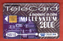 telecarte telecard Namibie Namibia telecom millennium 2000  N$10 ( 2 scans)