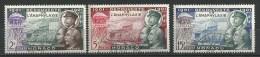 """Monaco YT 394 à 396 """" Découverte De L'anaphylaxie """" 1953 Oblitéré - Used Stamps"""