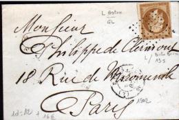 N°13 (I) OBL LOSANGE L & CAD N°1502 - Marcophilie (Lettres)