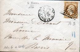 N°13 (II) OBLIT LOSANGE E ROMAIN - CAD N°1520 - Marcophilie (Lettres)