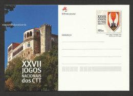 Portugal Carte Entier Postal 2012 Jeux De La Poste Château De Leiria Postal Stationery Post Games Leiria Castle - Schlösser U. Burgen